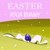 Lapin de yoga de Pâques illustration de vecteur