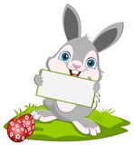 Lapin et carte de Pâques Photos libres de droits
