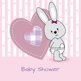 Lapin et coeur Images stock