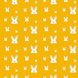 Lapin heureux Bunny Orange Seamless Background de Pâques Illustration de Vecteur