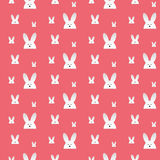 Lapin heureux Bunny Pink Seamless Background de Pâques Image stock