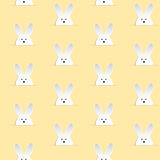 Lapin heureux Bunny Yellow Seamless de Pâques Photo stock