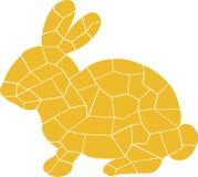 Lapin jaune Les différents éléments font la grande image illustration libre de droits