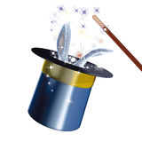 Lapin magique de chapeau Image libre de droits