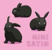 Lapin Mini Satin Cartoon Vector Illustration Photographie stock