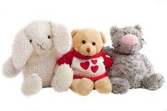 Lapin mou, ours et un chat Photo stock