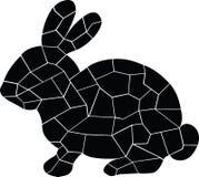 Lapin noir Petit animal mignon stup?fier illustration de vecteur