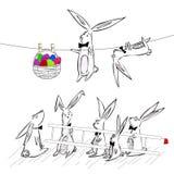 Lapin Pâques illustration de vecteur