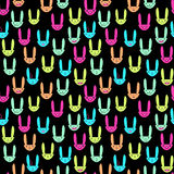 Lapin Pattern-21 sans couture Photos stock