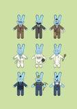 Lapins bleus Image libre de droits