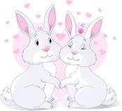 Lapins dans l'amour illustration libre de droits
