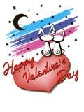 Lapins dans l'amour Photo libre de droits