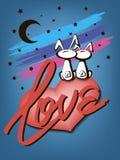 Lapins dans l'amour Photographie stock libre de droits