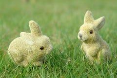 Lapins dans le jardin photographie stock