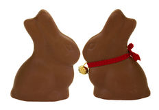 Lapins de chocolat Photographie stock
