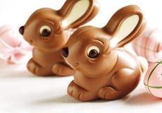 Lapins de chocolat de Pâques Image stock