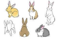 Lapins de Pâques illustration de vecteur