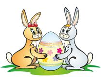Lapins de Pâques Images stock