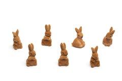 Lapins de Pâques, d'isolement sur le blanc Image stock