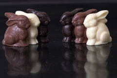 Lapins de Pâques de chocolat Photo libre de droits