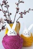 Lapins de Pâques pour la décoration Photo libre de droits