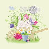 Lapins de Pâques Photo libre de droits