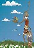 Lapins drôles illustration de vecteur