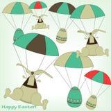 Lapins et oeufs de Pâques Images stock