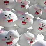 Lapins heureux de peluche Photo stock
