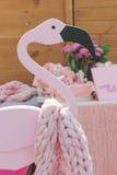 Lapins roses Images libres de droits