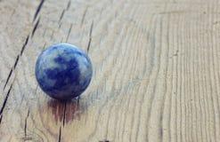 Lapis lazuli ball, macro Royalty Free Stock Image