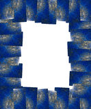 Lapis lazuli frame isolated Stock Photography