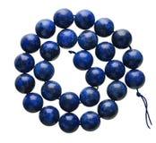 Lapis lazuli op wit worden geïsoleerd dat Stock Foto's