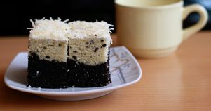 Bogor Layered Taro Cake Stock Photography
