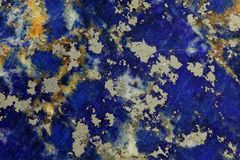 Lapislazuli. Polished surface of Lapislazuli rock Stock Image