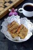 Lapislazzuli di Kek, dessert malese Immagine Stock Libera da Diritti