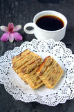 Lapislazzuli di Kek, dessert malese Immagini Stock