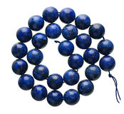 Lapisu lazuli odizolowywający na bielu zdjęcia stock