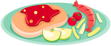 Lapje vlees vector illustratie