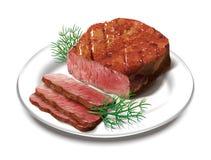 Lapje vlees stock illustratie