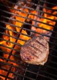 Lapje vlees bij de Vurige Grill Stock Foto's