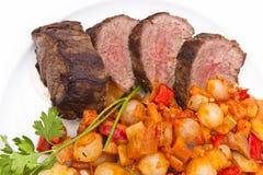 Lapje vlees en aardappels Stock Afbeeldingen
