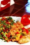 Lapje vlees en groenten Stock Fotografie