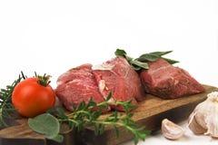 Lapje vlees en ingrediënten Stock Afbeeldingen