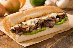 Lapje vlees en Kaassub Stock Foto's
