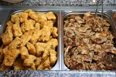 Lapje vlees en visfilet Stock Afbeelding