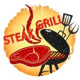 Lapje vlees geroosterd barbecueontwerp stock illustratie
