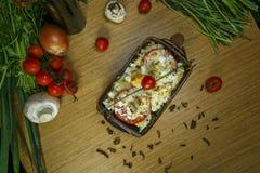 Lapje vlees met Bulgaarse kaas Royalty-vrije Stock Foto