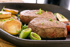 Lapje vlees met Groente royalty-vrije stock afbeelding