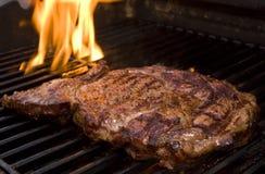 Lapjes vlees op de Grill stock foto
